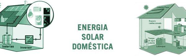 Cómo funciona una instalación de energía solar doméstica